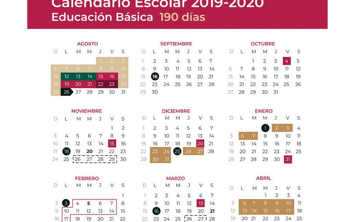 Calendario De Hacienda 2020.Enterate Incluyen 3 Puentes Largos En Calendario Escolar