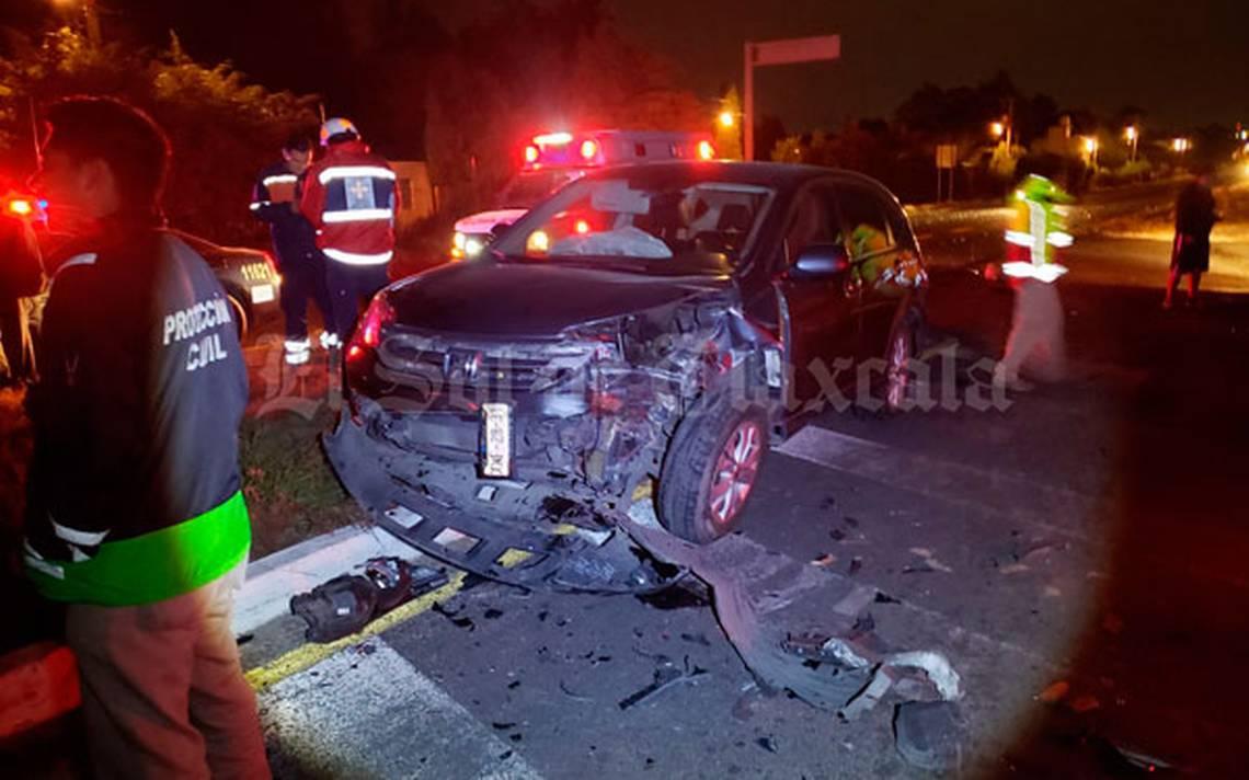 Colisionan cuatro unidades vehiculares en la autopista Tlaxcala-San Martín - El Sol de Tlaxcala