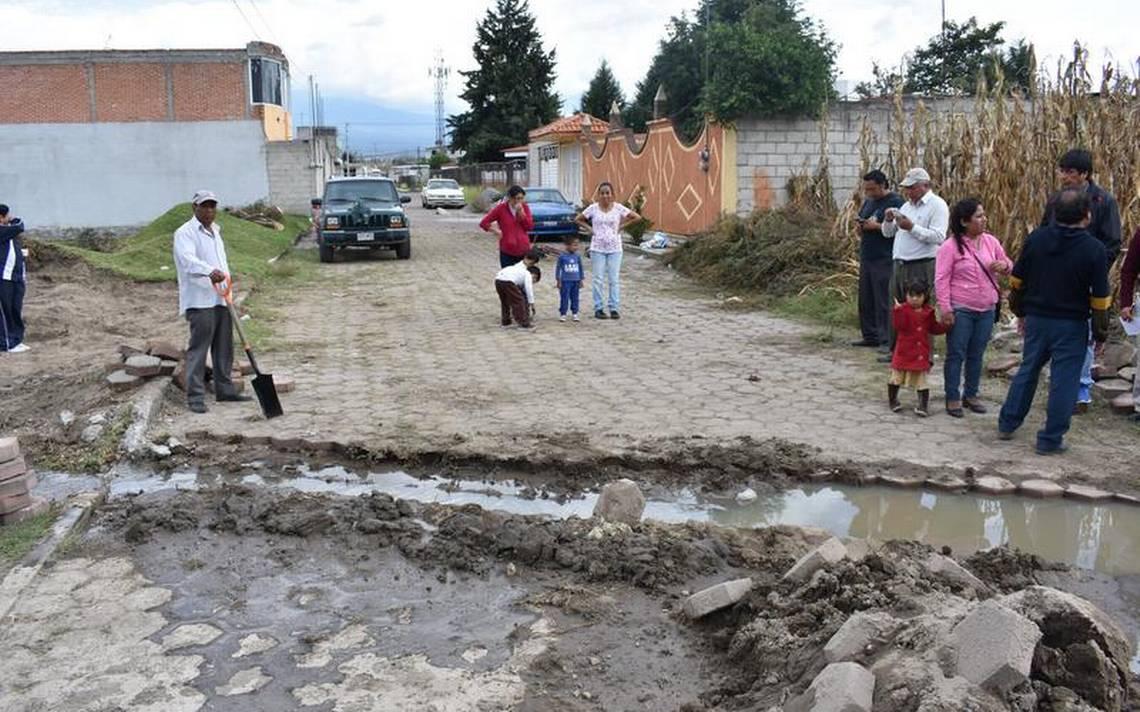 Colapsa drenaje en Guadalupe Ixcotla, Chiautempan - El Sol de Tlaxcala