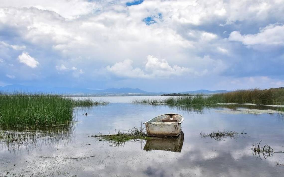 Laguna de Atlangatepec en Tlaxcala.